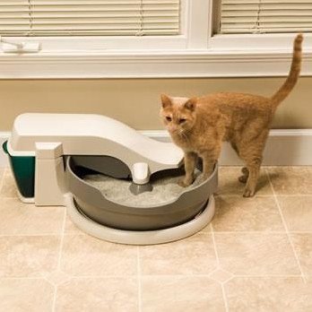 automatic cat litter box cleaning system
