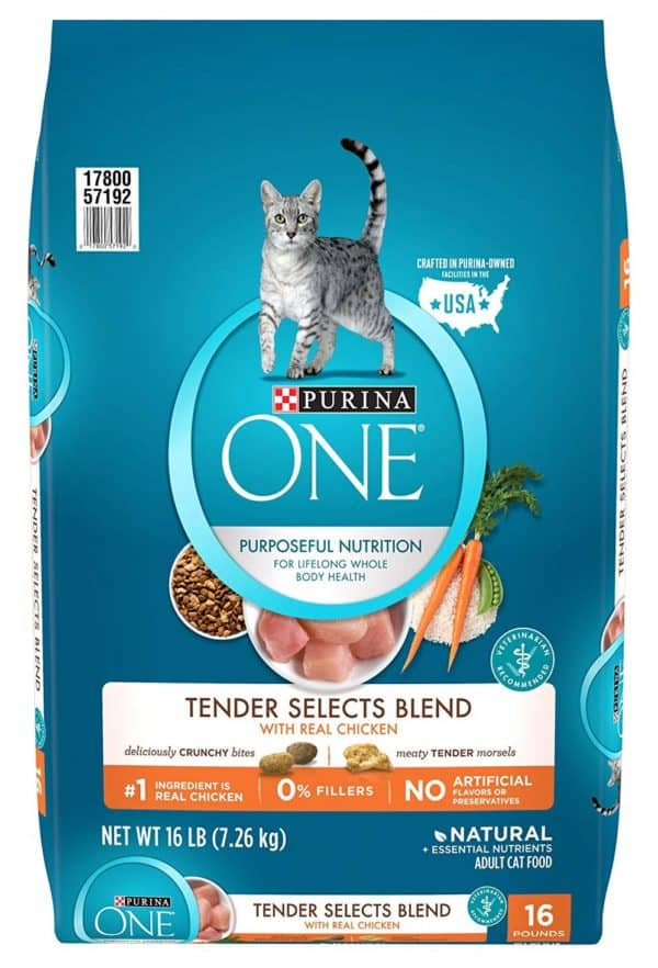 Purina One Tender Selects Blend With Real Chicken Adult Dry Cat Food